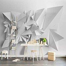 Tapete Für Wände 3D Weißes Dreieck Geometrische