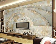 Tapete für WändeMarmor 3D-TV-Sofa