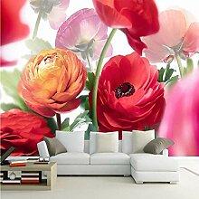 Tapete Für Wände Modernes Design Bunte Blumen