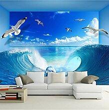 Tapete Für Wand 3D Stereoskopischen Blauen Ozean