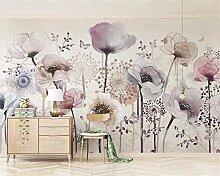Tapete für Wohnzimmer Seidentapete Aquarell