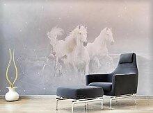 Tapete Geometrisch Weiß Pferd Fototapete Bau