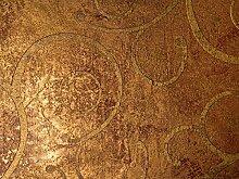 Tapete Gold Metallic Braun - Ornamental - La