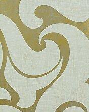 Tapete Gold - Ornamental - Modern, Opulent - für