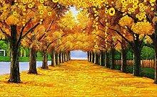 Tapete goldene Blätter Herbstlandschaft TV