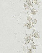 Tapete Grau Floral Modern Natur Romantisch Floral