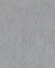 Tapete Grau Struktur - Vlies - Stein, Betonoptik,