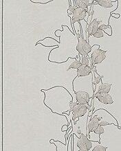 Tapete Greige Floral Modern Natur Romantisch