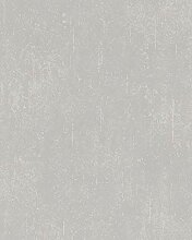Tapete Greige Struktur - Vlies - Betonoptik, Uni -