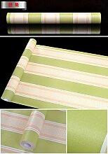 Tapete Grün Gestreifter Bambus Blauer Himmel