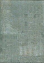 Tapete Grün Meer mit Glitter gold Verarbeitung Typ Jute in Vinyl waschbar Design Elegantes und raffiniertes für Styles klassisch modern modernes unterzeichnet Trussardi Wall Decor z5803.