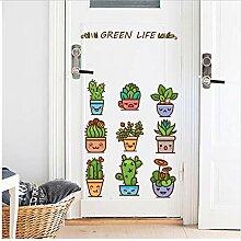 Tapete Grün Topfpflanzen Hintergrund Wand