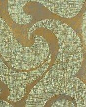 Tapete Grün und Bronze glänzend abstrakte A