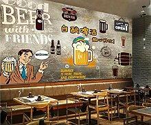 Tapete Handgemalte Karikatur Bier Pub Bar KTV