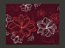 Tapete Herbstblumen