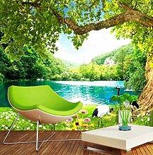 Tapete Hintergrundbild des grünen Waldlandschaft