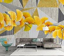 Tapete Hochwertiger Goldene Blätter Wandbild