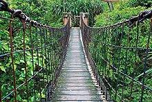 Tapete Hochwertiger Seilhängebrücke Wandbild