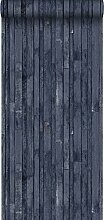 Tapete Holz-Optik Dunkelblau - 138814 - von