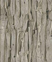 Tapete Holz-Optik Treibholz Vintage Holz Rasch Rustikal Natürlich Braun 273304