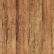 Tapete Holzoptik 3d Farbe Braun realistisch leicht