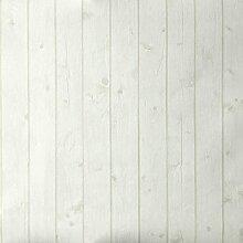 Tapete Holzoptik weiß Schmutz Täfelung leicht