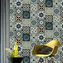 Tapete im marokkanischen Stil, Mosaik-Motiv,