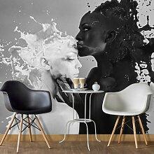 Tapete Kaffee küsst Milch