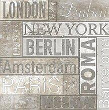 Tapete Kennzeichen Vintage mit Schriftzug Namen