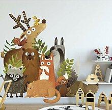 Tapete Kinder Dekoration DIY Cartoon Dschungel
