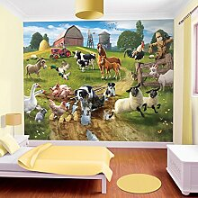 Tapete Kinder Farmtiere Walltastic