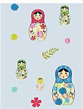 Tapete Kinder: Puppen hellblau