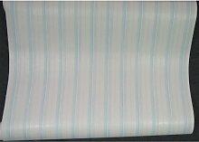 Tapete Kinderzimmer Streifen creme blau gestreif