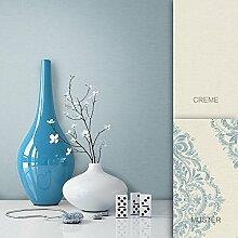 Tapete Klassik Landhaus Edel Natur Vliestapete Blau , schönes Design und purer Luxus Effekt , moderne Natur Optik für Wohnzimmer, Schlafzimmer, Flur oder Küche inkl. Newroom Tapezier Profibroschüre