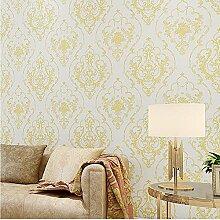 Tapete Marokkanischen Stil Europäischen Wohnzimmer Schlafzimmer Studie Tapete Vlies tapete , light yellow