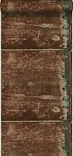 Tapete Metallplatten Rostbraun - 138221 - von