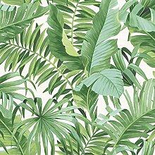 Tapete mit tropischen Blättern, Palme,
