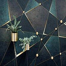 Tapete Moderne 3D Geometrische Linien Gold