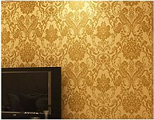 Tapete Moderne Minimalistische Goldene Damaskus