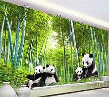 Tapete Modernen Chinesischen Stil Panda Und Bambus