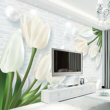 Tapete Modernes 3D 3D Europa Geprägte Tulip Jade