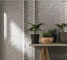 Tapete modernes Boden schwarz mit Position Geometrisch Silber glänzend Farbverlauf taupe 3d Atmosphäre 258110