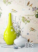 Tapete Natur Tiere Blumen Vögel | schöne edle