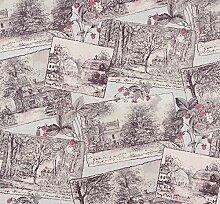 Tapete Natur Wald grau blau rosa Tapete Rasch Aqua Relief 4 858518
