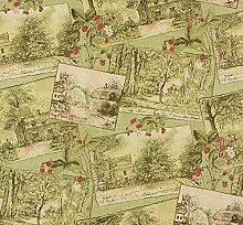Tapete Natur Wald grün creme rot Tapete Rasch Aqua Relief 4 858501