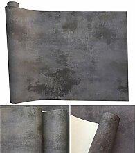 Tapete Nordic Retro Grau Einfarbiger Zement 303
