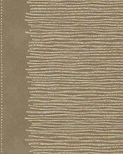 Tapete Ocker Braun Gold Streifen für Wohnzimmer