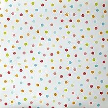 Tapete Oh die die 66255049TNT gepunktet, Blau, Pink, Grün, Orange, Pink, Rot auf Boden Weiß