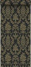 Tapete Ornamente Schwarz und Gold - 326137 - von