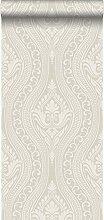 Tapete Ornamente Silber - 346628 - von Origin -